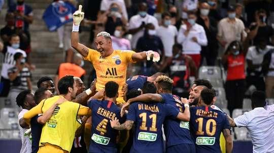 Keylor Navas tem a melhor média entre os goleiros das cinco grandes ligas. AFP