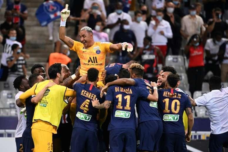 PSG vence tudo na França e agora quer a Europa. AFP