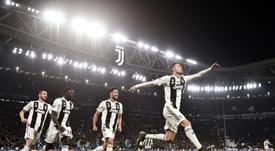 Cristiano Ronaldo, auteur dun triplé lors du 8èmes de finale retour de la Ligue des champions. AFP