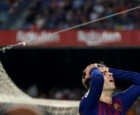 Piqué is under huge pressure at the Nou Camp after a poor start to the season. AFP