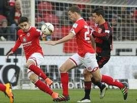 Samperio anotó ante el Wolfsburgo el tanto del empate. AFP