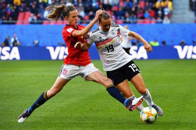 Alemania venció a España y se afianzó en la primera plaza. AFP