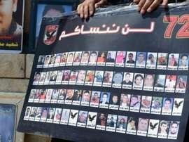 Los 72 fallecidos en Port Said no han sido olvidados. AFP/Archivo
