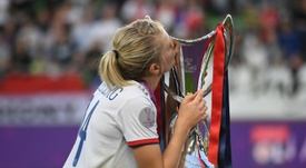 Hegerberg aprueba que haya un Madrid femenino. AFP