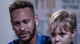 Neymar répond aux questions. AFP