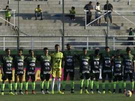 L'équipe Defensa y Justicia rend hommage à Emiliano Sala. AFP