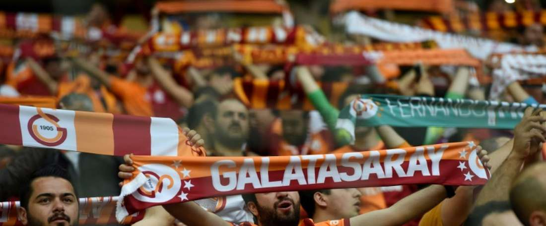 Galatasaray é líder isolado da Liga turca. AFP