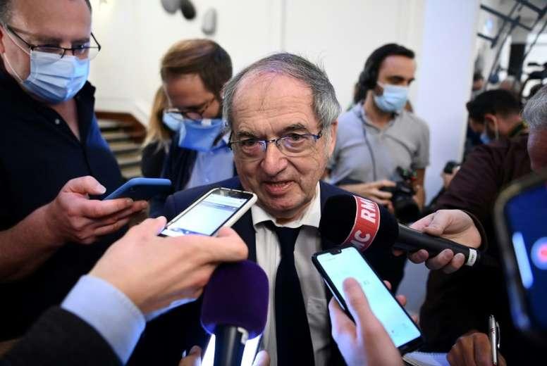 SOS Racisme dénonce les propos scandaleux de Le Graët sur le racisme. AFP