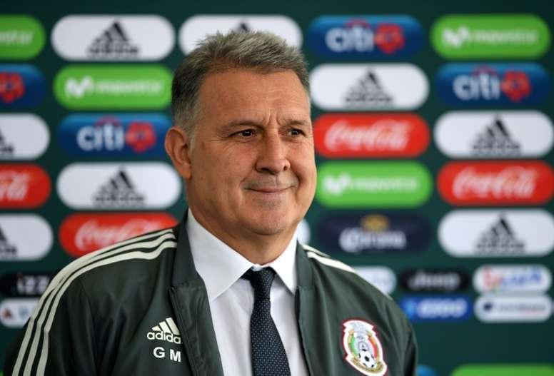 Martino analizó la actualidad y el estado del 'Tri'. AFP