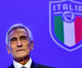 Gravina said September and October could be used to complete Serie A. AFP