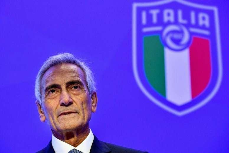 Gravina abrió las puertas a fútbol en septiembre y octubre. AFP