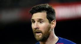 Mendilibar alabó a Leo Messi. AFP