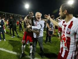 L'AC Ajaccio maintenu en appel en Ligue 2. AFP