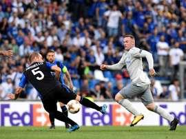 Nem Rooney foi capaz de impedir o desaire dos 'toffees'. AFP