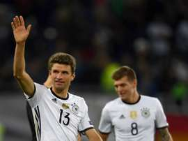 Thomas Muller is disappointed by the rumours. AFP