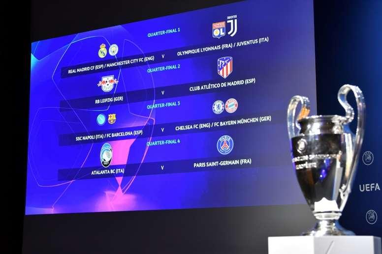 El cuadro de la Champions más desigual. AFP