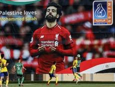 Palestine loves Mohamed Salah. AFP