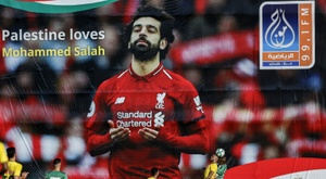 Palestine loves Mohamed Salah. AFP