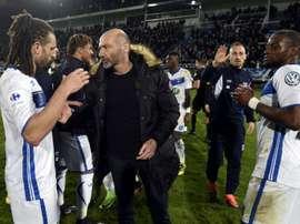 Auxerre a été éliminé de la Coupe de France par Fréjus-Saint-Raphaël. AFP
