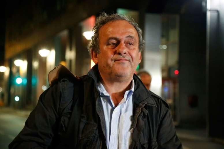 Platini negó haber pedido 7,2 millones a la UEFA. AFP