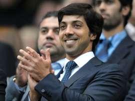 Le Cheikh Mansour bin Zayed al-Nahyan, propriétaire de Manchester City. AFP