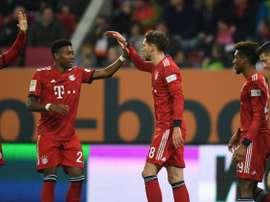 Coman marcó dos goles y Alaba hizo el tercero. AFP