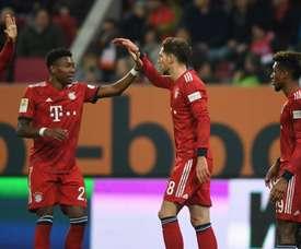 Le Bayern a encaissé vendredi 15 février 2019 à Augsbourg un but après 13 secondes de jeu. AFP