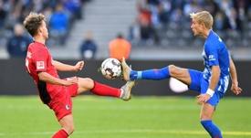 Le Hertha Berlin a raté l'occasion de monter sur le podium. AFP