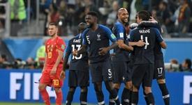 Robert Martinez revient une nouvelle fois sur France-Belgique 2018. AFP