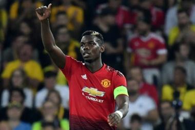 Pogba criticó públicamente el planteamiento táctico de Mou en el último partido del United. AFP