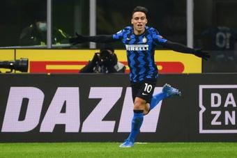 Lautaro seguirá en el Inter de Milán. AFP