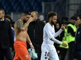 Delort não poupou críticas ao comportamento dos jogadores do PSG. AFP