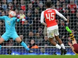Le gardien Tom Heaton lors du match Arsenal-Burnley en Coupe d'Angleterre à Londres. AFP