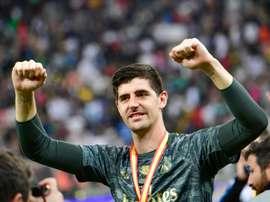 Courtois estime que remettre le sacre du Barça serait injuste. AFP