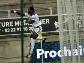 Le buteur d'Amiens Moussa Konaté a trouvé le chemin des filets contre Nice. AFP