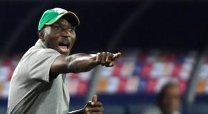 Le sélectionneur de la Côte d'Ivoire, Ibrahim Kamara, lors du match face au Maroc. AFP