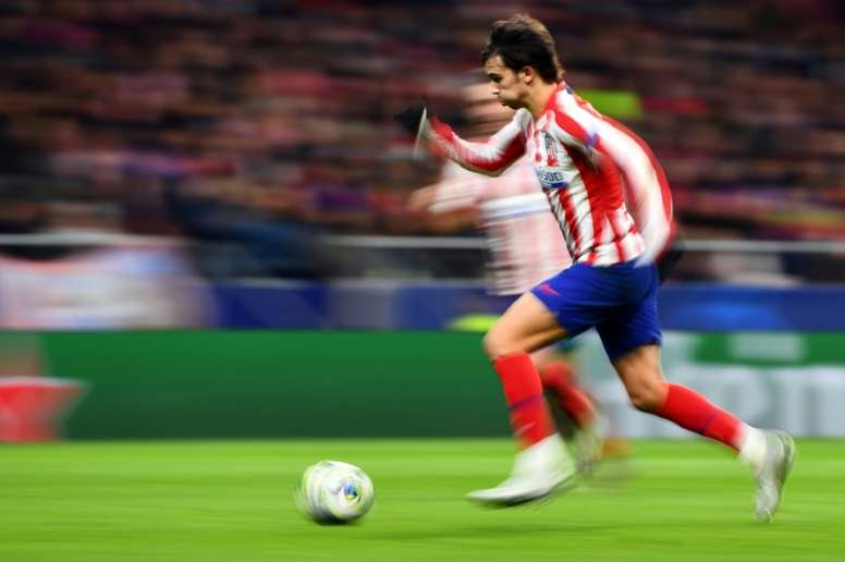 Joao Félix, contento por la clasificación del Atlético. AFP