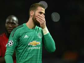 David de Gea after Manchester United's defeat to Juventus in the Champions League. AFP