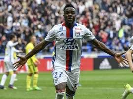 Maxwell Cornet dio el triunfo in extremis al Lyon. AFP/Archivo
