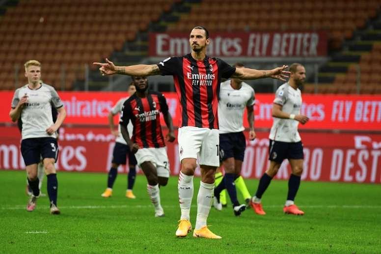 Zlatan Ibrahimovic testé positif au COVID-19. afp