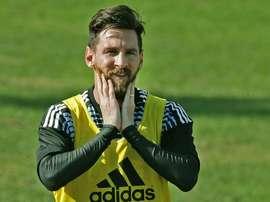 Israel se queda sin ver a Messi. AFP