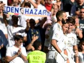 Hazard préfère ne pas affronter les Bleus avec Benzema dans l'équipe. AFP