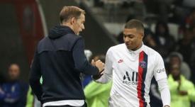 Tuchel justificó la ausencia de Mbappé en el once inicial ante el Brujas. AFP