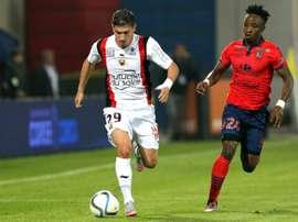 Le défenseur de Southampton Jérémy Pied, alors sous le maillot de Nice, lors d'un match de L1. AFP