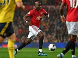 Manchester United espère compter sur Pogba en cas de reprise. afp