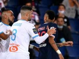 Álvaro insultó a Neymar en el duelo de la tercera jornada. AFP