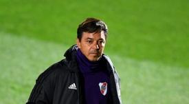 Marcelo Gallardo no suelta prenda con respecto al once de la final. AFP/Archivo