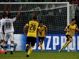 Marc Bartra vient dinscrire le 3e but de Dortmund à Varsovie contre le Legia en Ligue des champions, le 14 septembre 2016