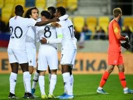 Les Bleuets vainqueurs en Slovaquie au terme d'un match fou. AFP