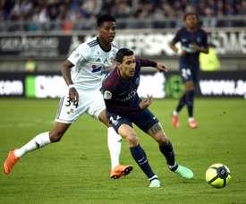Amiens e PSG empataram a dois. AFP